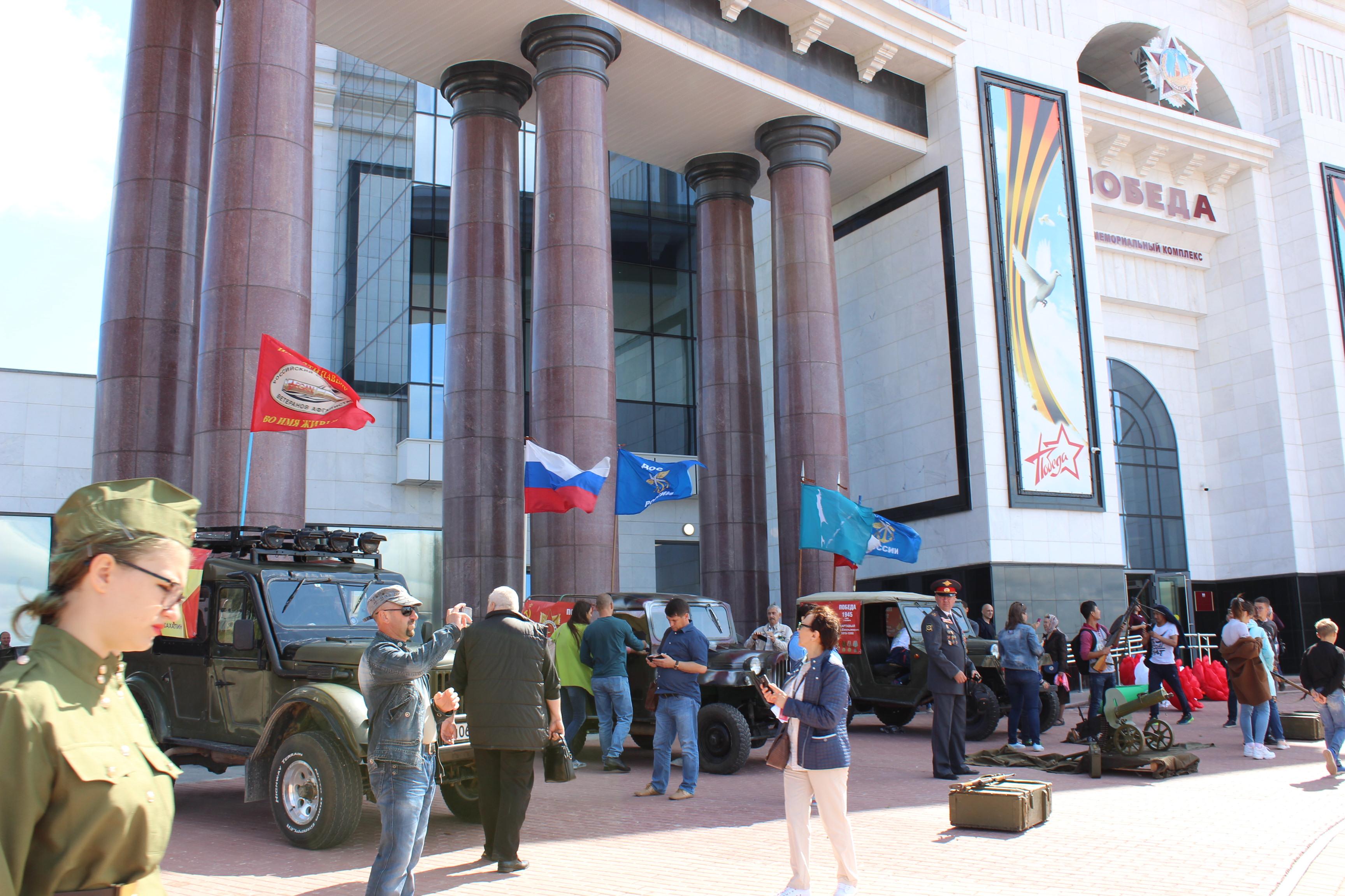 Выставка раритетной автомототехники в честь дня освобождения Сахалина и Курил от японских милитаристов.